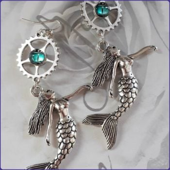 Mermaid Charm Handmade Earrings