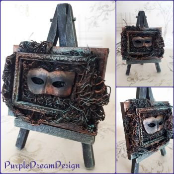 Canvas Wall Art Sculpture Halloween Gothic Mask Home Decor