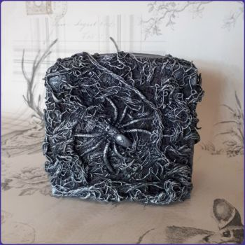Gothic Inspired Spider Moneybox Sculpture Altered Art Mixed Media