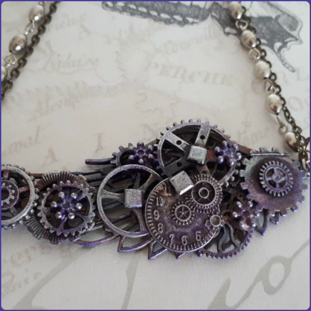 Cogs & Gears Steampunk Inspired Necklace
