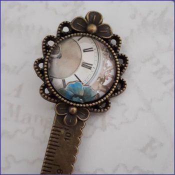 Measuring Tape Steampunk Brooch Bookmark Journal Page Saver