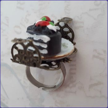 Handmade Unique Ring Design Cake Slices Costume Jewellery