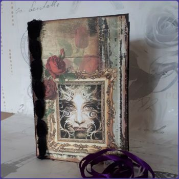 Handmade Stitched Junk Journal Book Gothic Fantasy