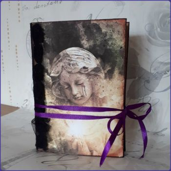 Handmade Stitched Junk Journal Book Gothic Fantasy Angel