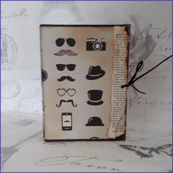 Handmade Junk Journal Book Hipster Steampunk Vintage