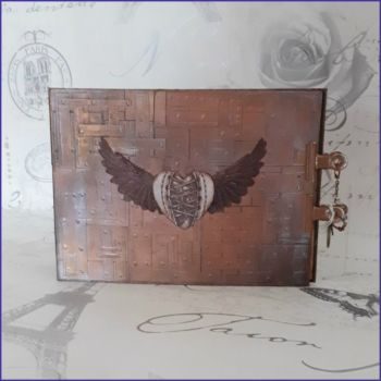 Handmade Steampunk Vintage Junk Journal Book