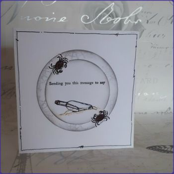 Nautical Inspired Message In A Bottle Birthday Greetings Card