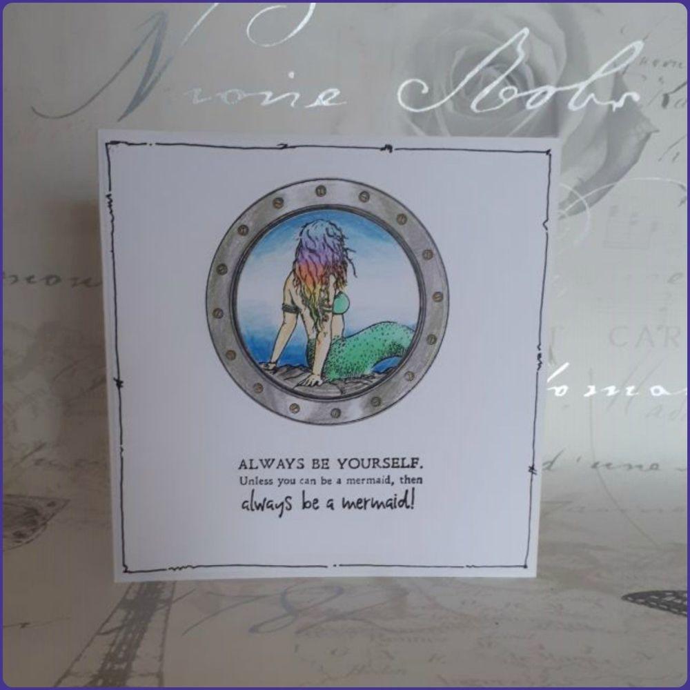 Mermaid Ocean Seaside Greetings Card Birthday