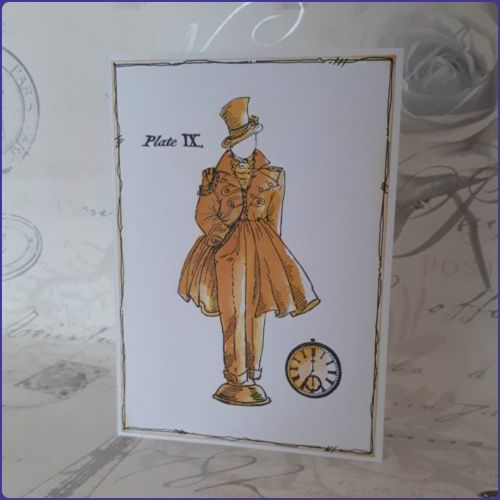 Steampunk Inspired Watercolour Greetings Card Notecard Birthday