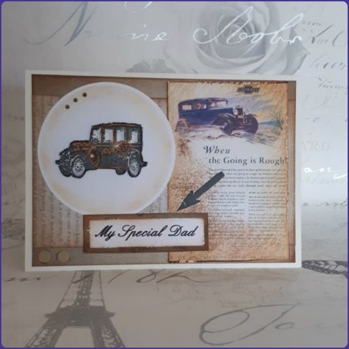 Vintage Vehicle Father's Day Birthday Greetings Card