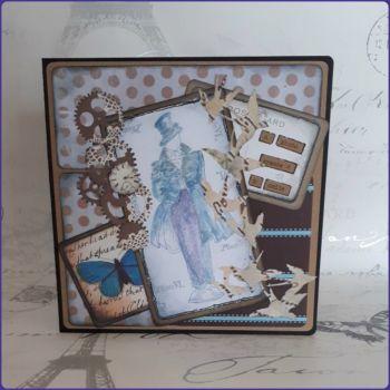 Steampunk Inspired Victorian Gentleman Birthday Greetings Card