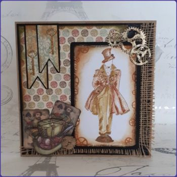 Steampunk Inspired Gentleman Birthday Father's Day Greetings Card