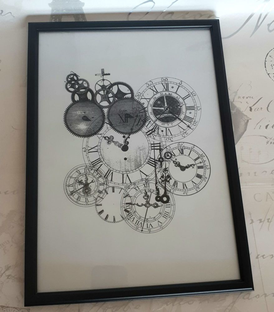 Digital Print Artwork Wall Art Steampunk Clocks
