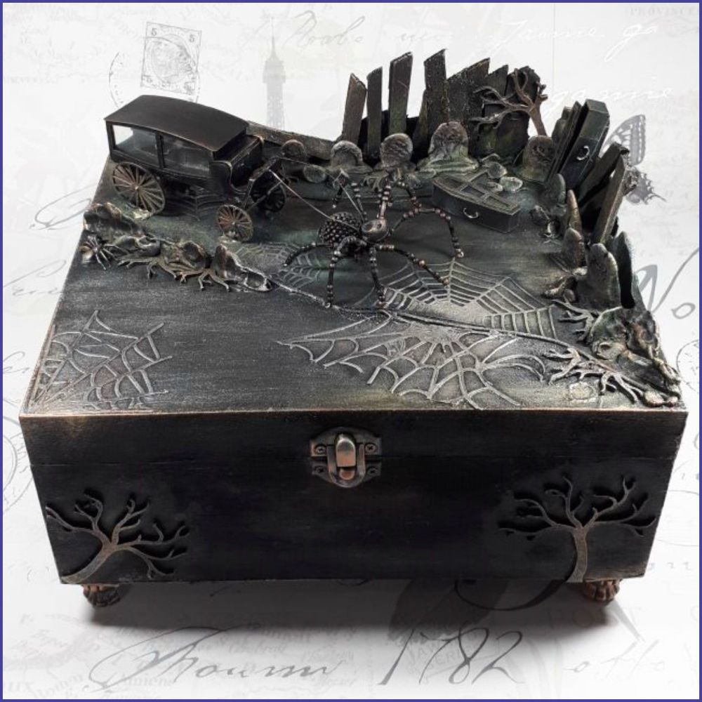 Coffin Box Trinkets Jewellery Goth Home Decor