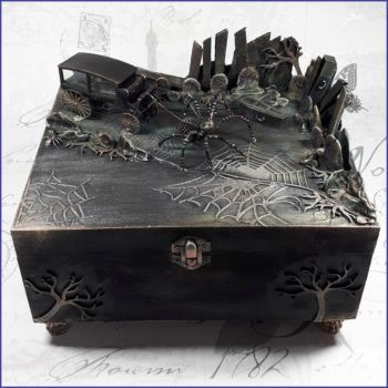 The Graveyard Cemetery Coffin Box Trinkets Jewellery Goth Home Decor