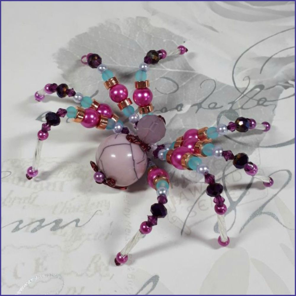Glass Beads Beaded Spider Ornamental Home Decor Arachnid