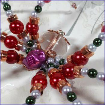 Glass Beads Beaded Skull Spider Ornamental Home Decor Arachnid