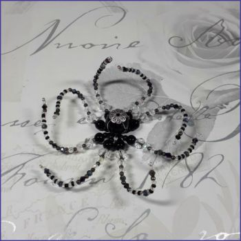 Beaded Octopus Sea Ocean Creature Home Decor Ornament Black