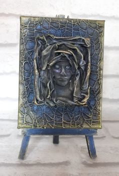 Mixed Media Goth Gothic Sculpture Art Canvas Home Decor