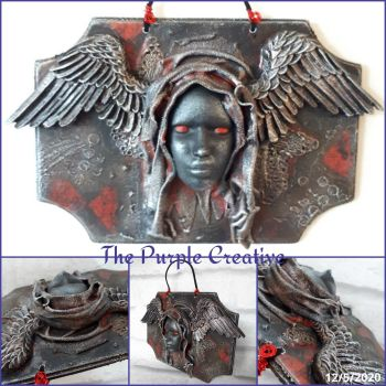 Mixed Media Goth Gothic Sculpture Canvas Art Home Decor
