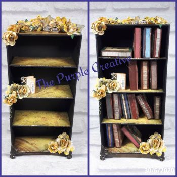 Miniature Bookcase Journals Handmade Home Decor