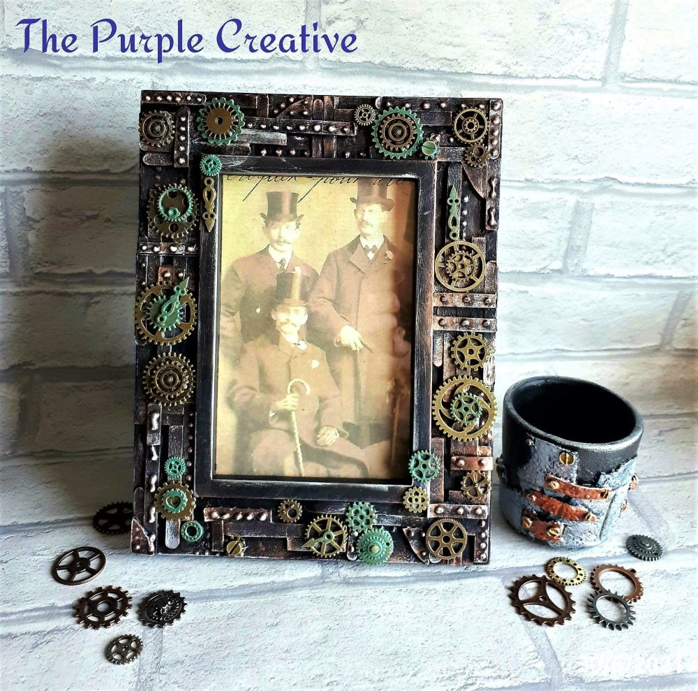 Industrial Steampunk Inspired Photo Picture Frame