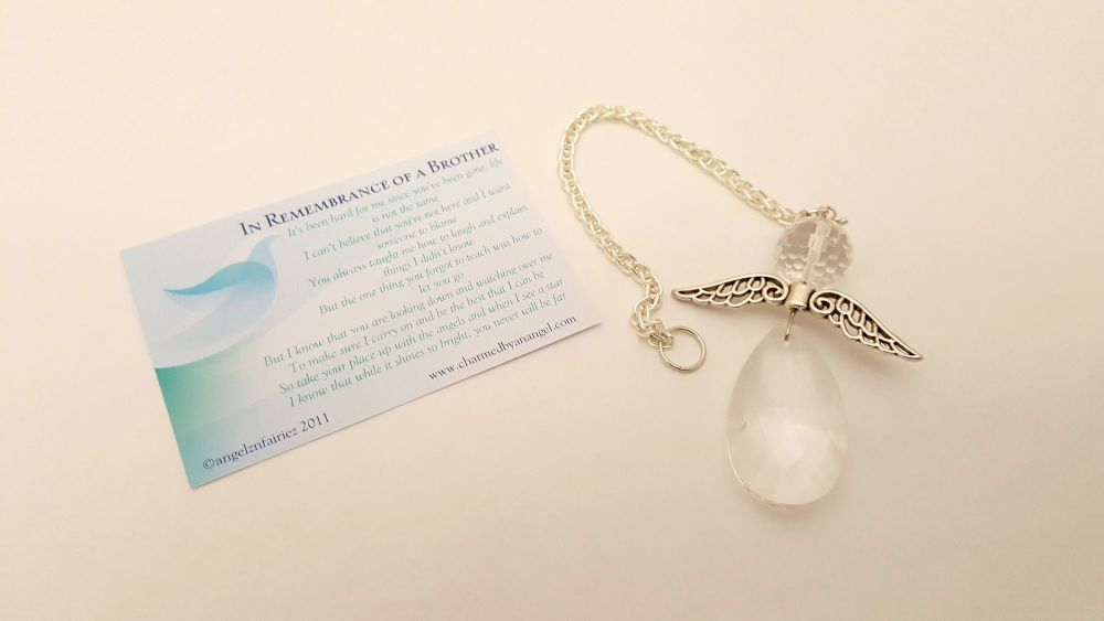 Angels Tear Remembrance Gift - Brother - crystal angel