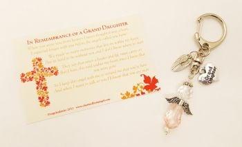 In Loving Memory of a Grand Daughter -  Angel Keyring