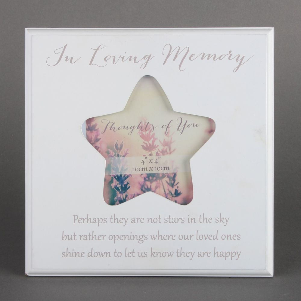 Thoughts of you in loving memory photo star frame