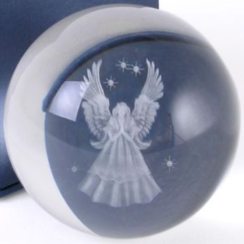 Guardian Angel Sphere Crystal Ball with free healing hands to stand it on
