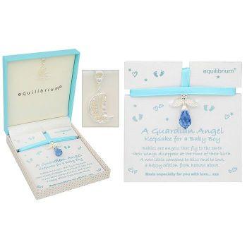 An crystal angel gift for a Newborn Baby Boy