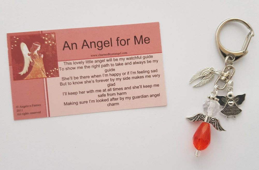 Angel for me keyring