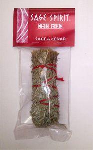 Sage and cedar smudge stick 5 inch