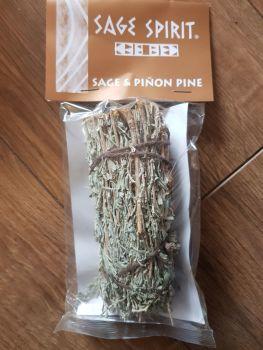 Sage and Pinon Pine Smudge stick 5 inches