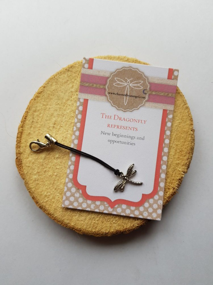 A Dragonfly Clippy Lucky Charm