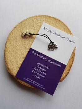 An Elephant Clippy Lucky Charm