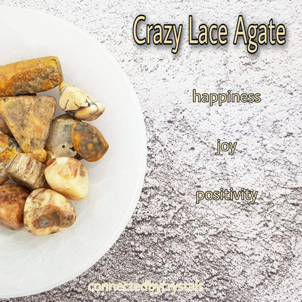 Crazy Lace Agate - Laughter or Happy Stone