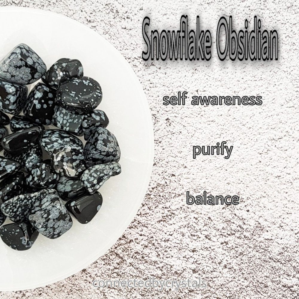 Snowflake Obsidian -Self  Awareness