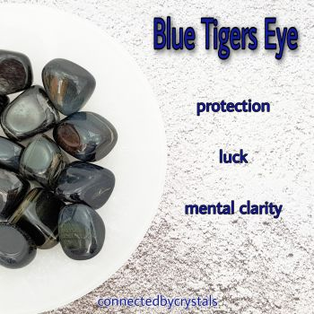 Blue Tigers Eye - Courage