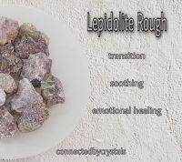 Lepidolite Rough - Transition