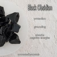 Black Obsidian Rough - Protection
