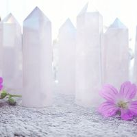 Aura Rose Quartz Points - Various