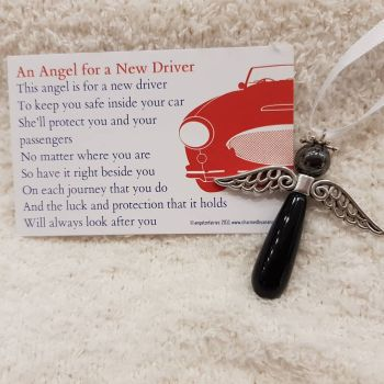 A Blak Obsidian Protection Angel for a new driver