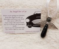 A Black Obsidian Angel for a Car
