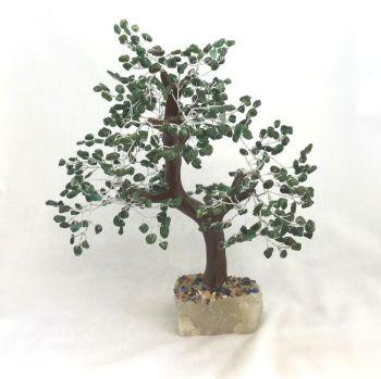 Large Green Aventurine Gemstone Tree 500 stones