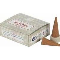 Satya White Sage Dhoop Cones pack of 12