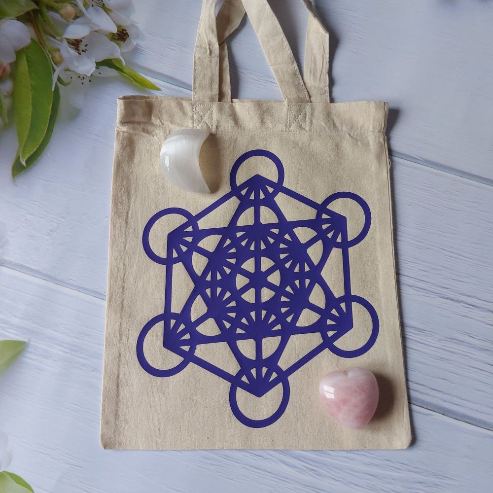 Crystal Grid Canvas Bag