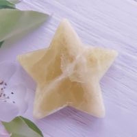 Lemon Calcite Star