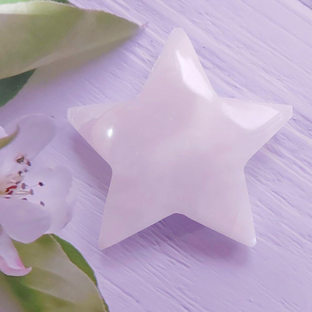 Pink Mangano Calcite Star