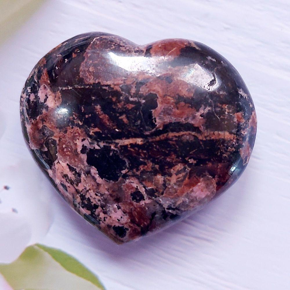 Rhodonite Heart - Emotional Balance